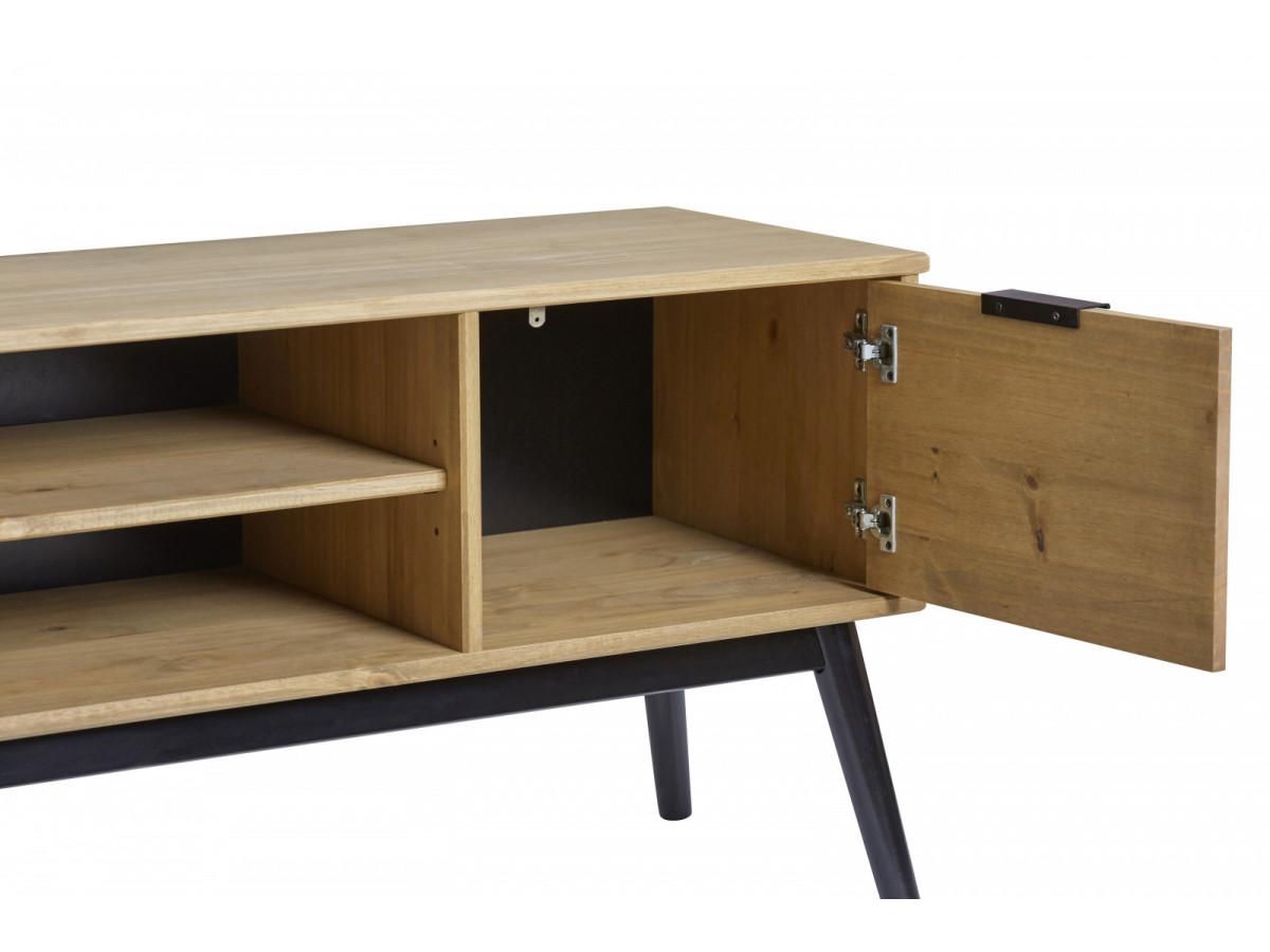 meuble tv lucia bois massif bobochic. Black Bedroom Furniture Sets. Home Design Ideas