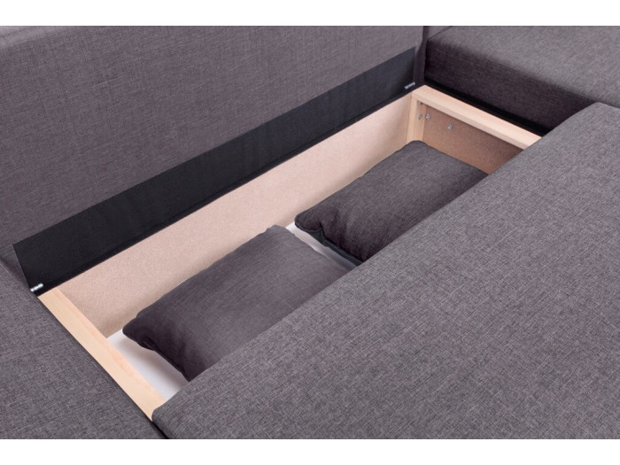 Corner sofa convertible reversible storage compartment NESTOR