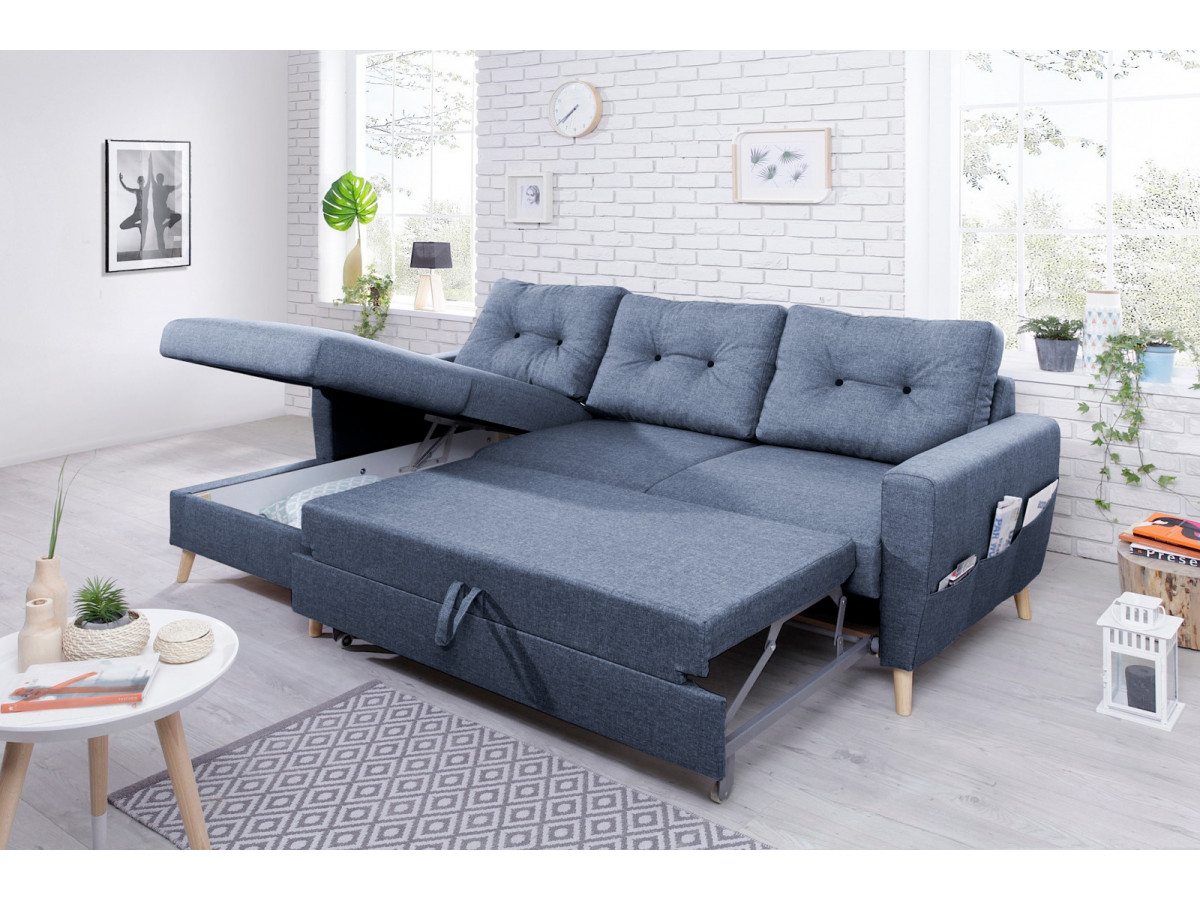 canap d 39 angle convertible coffre scandi bobochic. Black Bedroom Furniture Sets. Home Design Ideas