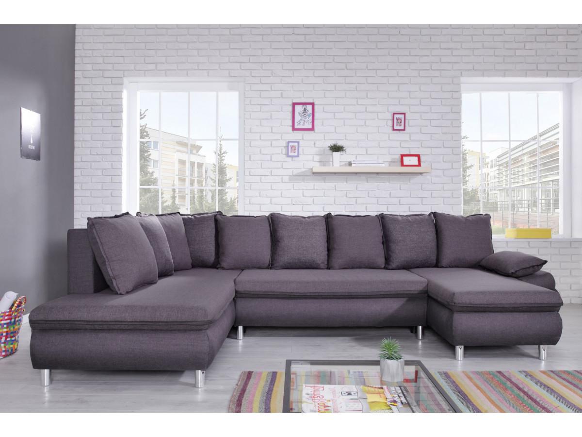 canap panoramique convertible coffre xxl nestor bobochic. Black Bedroom Furniture Sets. Home Design Ideas