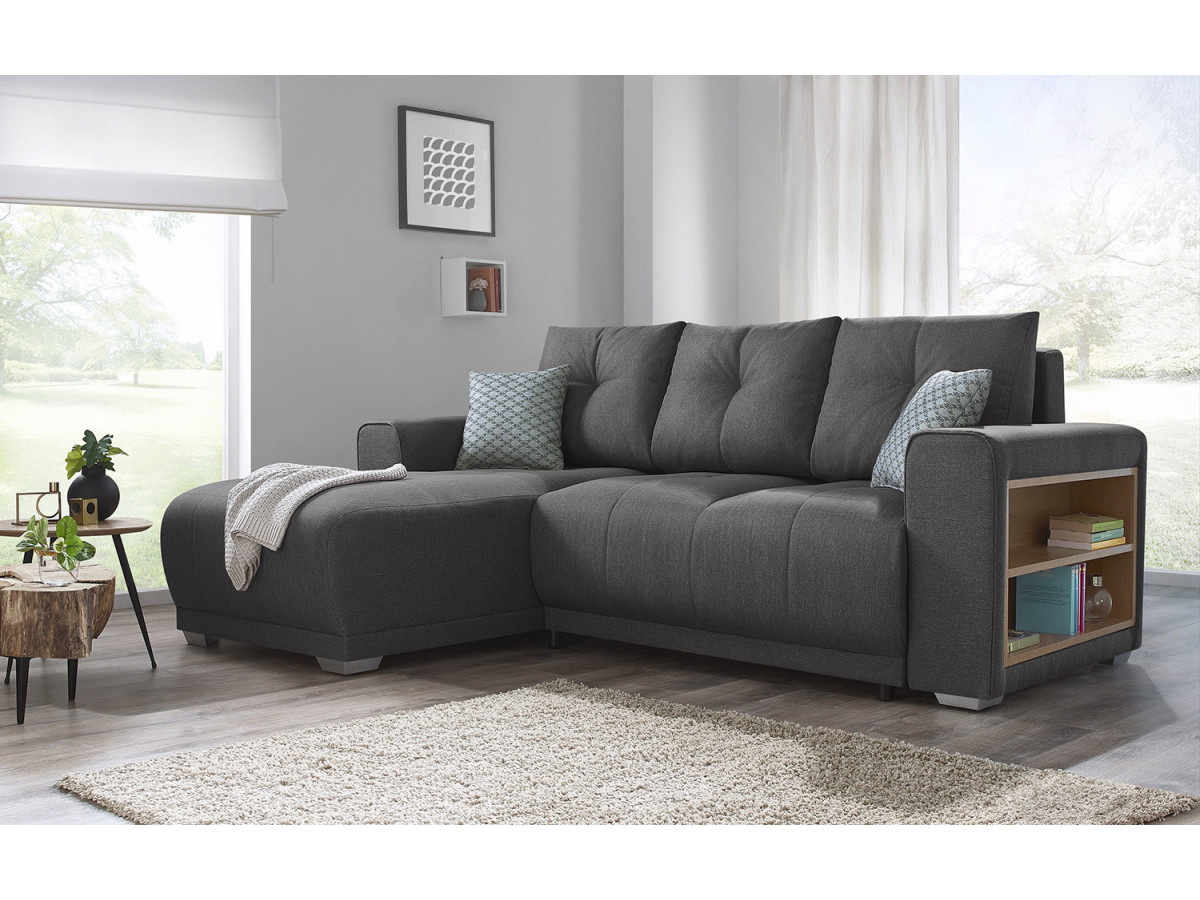 canap d 39 angle convertible avec tag res lisbona bobochic. Black Bedroom Furniture Sets. Home Design Ideas