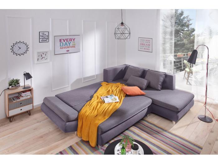 Kanapę narożną z miękkim dachem mini NESTOR