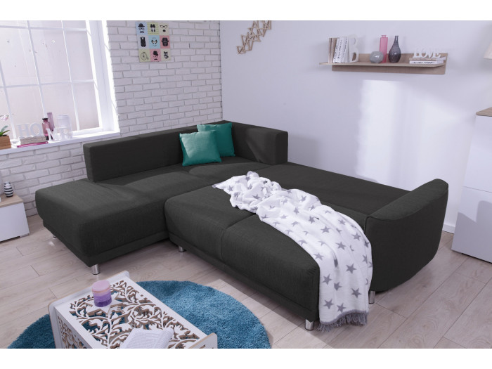 Corner sofa convertible L HEART