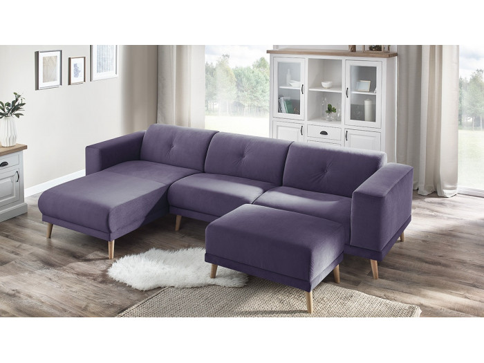 Corner sofa LUNA with ottoman
