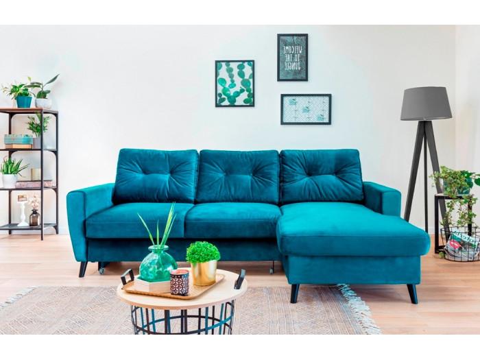 Narożna sofa Scandi stały Aksamit