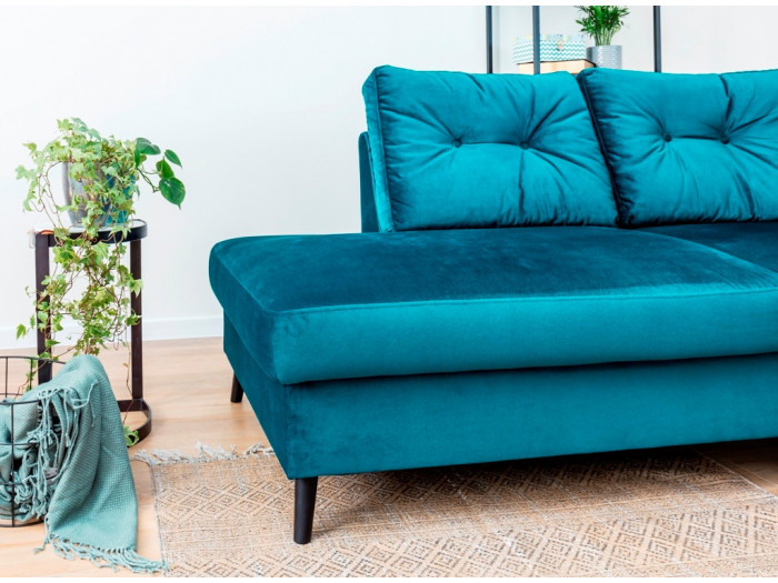 canap d 39 angle convertible velours l scandi bobochic. Black Bedroom Furniture Sets. Home Design Ideas