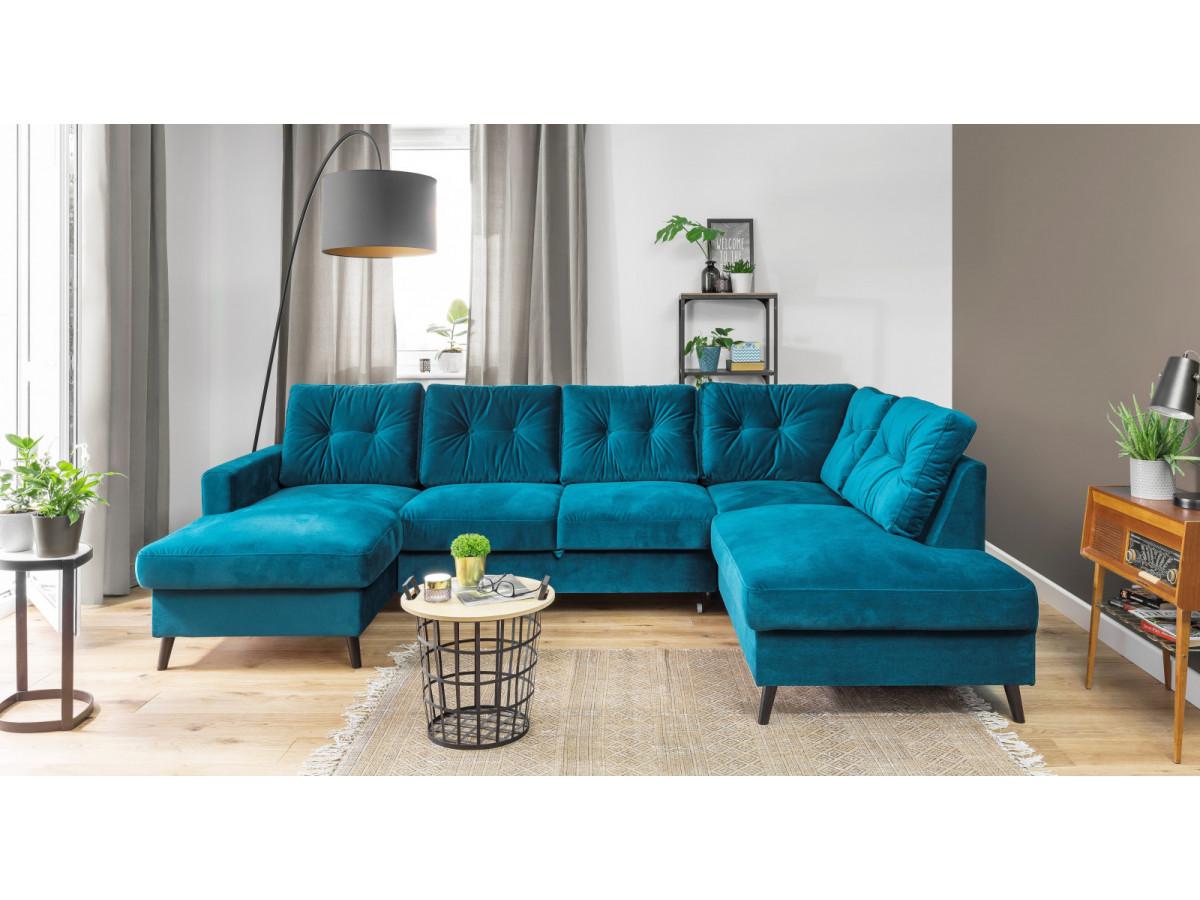 Sofa Panoramic Convertible Trunk Velvet Xxl Scandi Bobochic