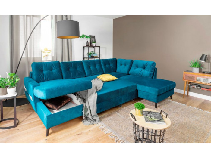 Sofa panoramic Convertible trunk SCANDI velvet