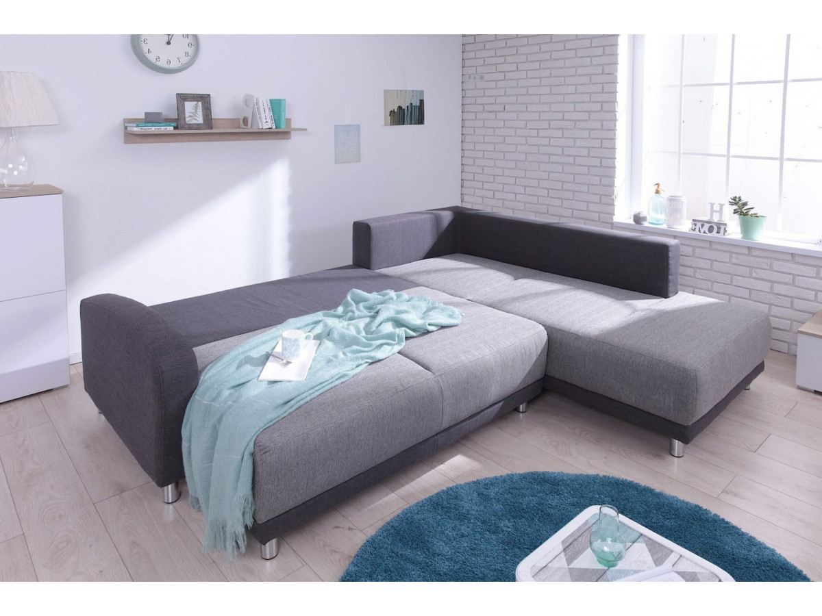 canap grand angle convertible l minty bobochic. Black Bedroom Furniture Sets. Home Design Ideas