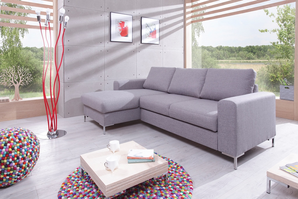 Corner sofa convertible with storage LILLY