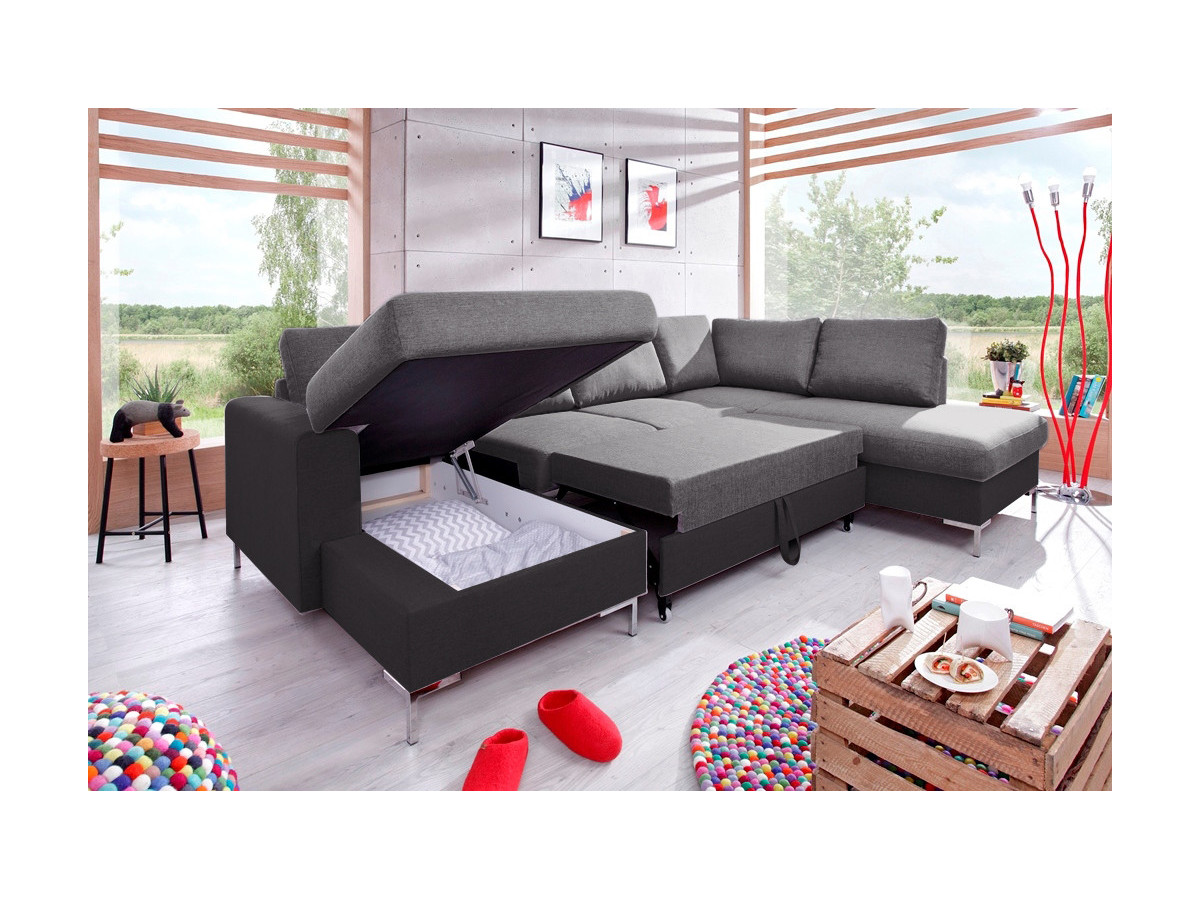 canap convertible coffre u lilly bobochic. Black Bedroom Furniture Sets. Home Design Ideas
