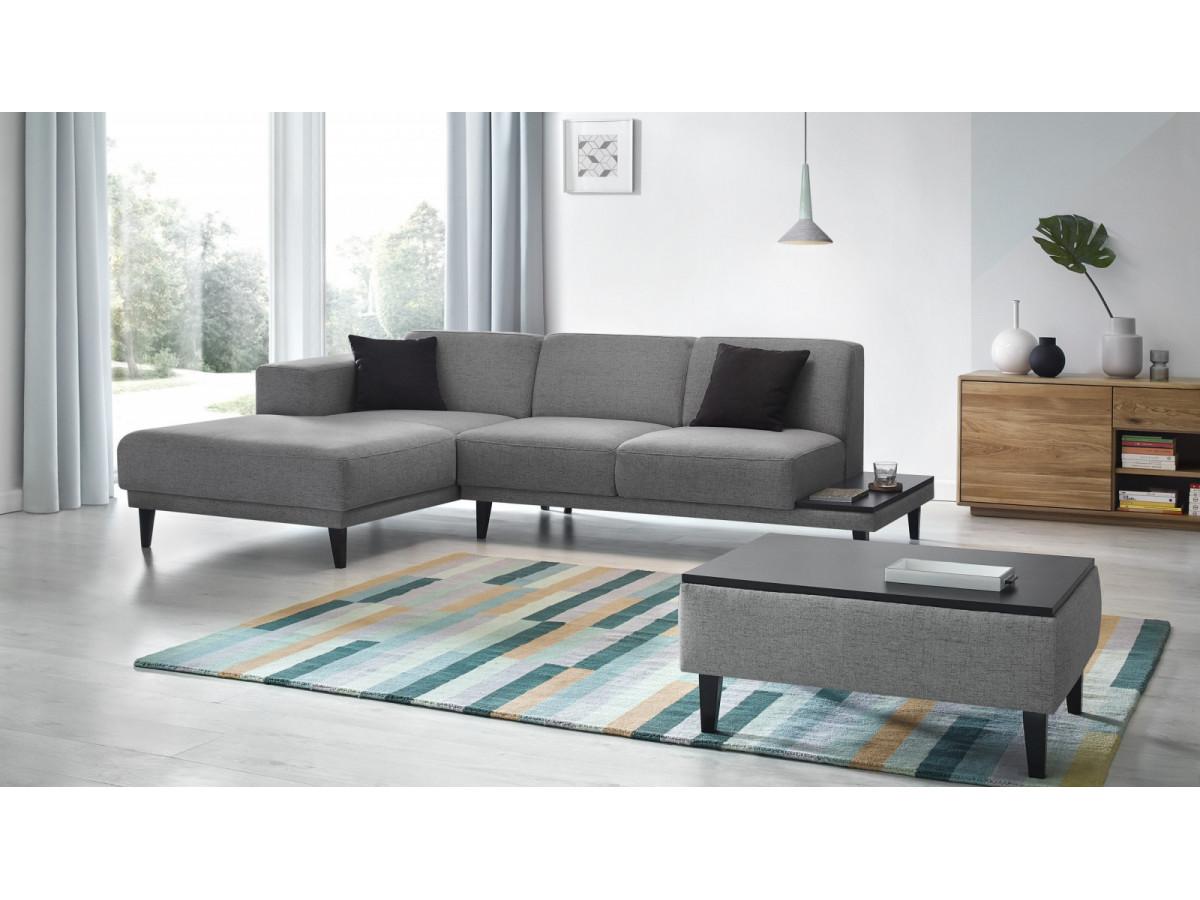 canap d 39 angle avec pouf leo bobochic. Black Bedroom Furniture Sets. Home Design Ideas