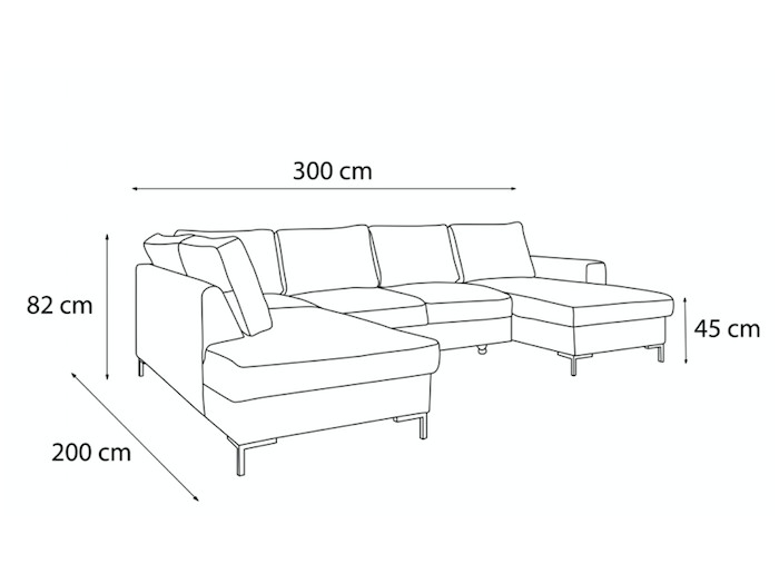 Sofa U-convertible trunk