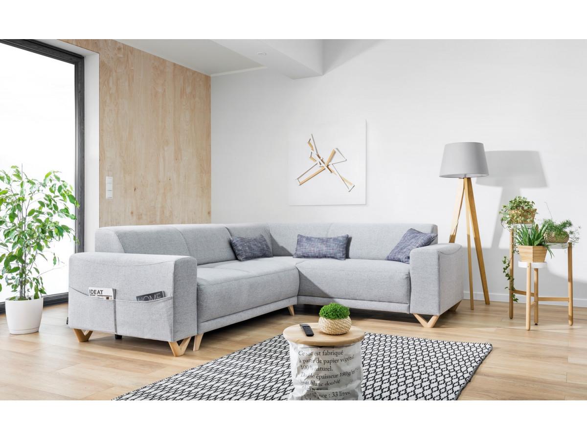Corner sofa panoramic convertible safe BELLA