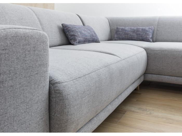 Canapé d'angle panoramique convertible coffre BELLA