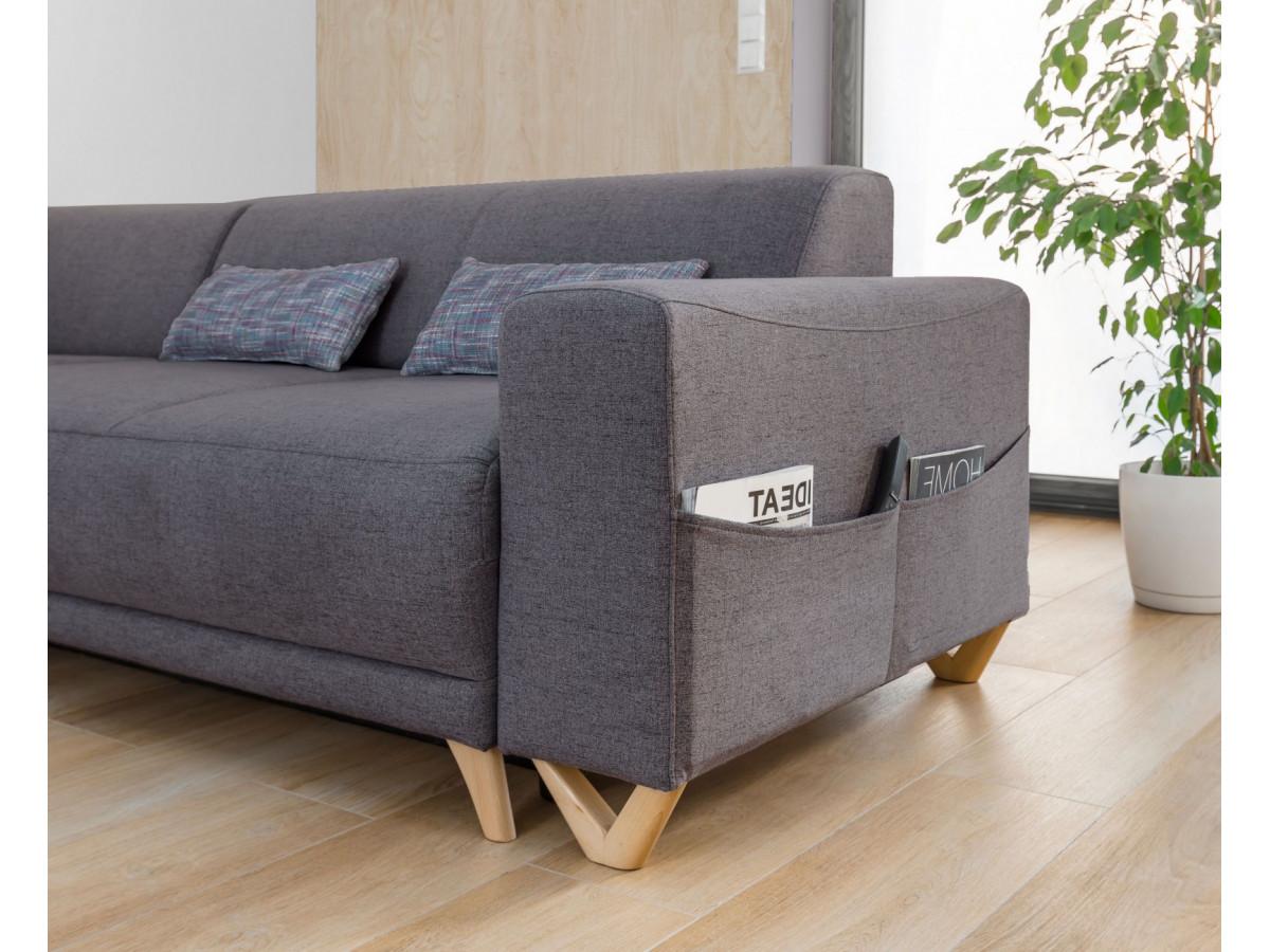 canap d 39 angle panoramique convertible coffre bella. Black Bedroom Furniture Sets. Home Design Ideas