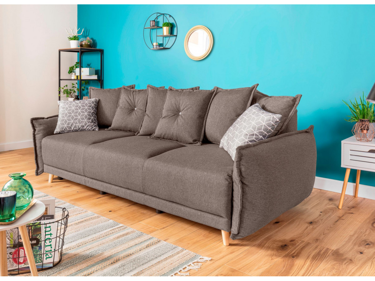 canap 3 places convertible coffre lena bobochic. Black Bedroom Furniture Sets. Home Design Ideas