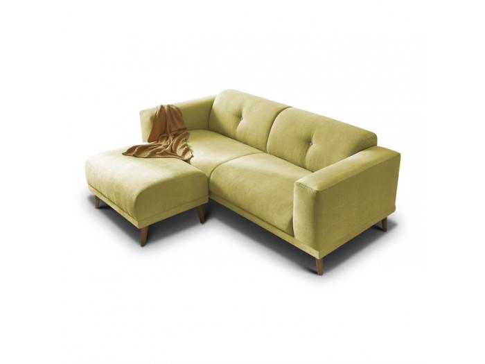 Canapé fixe avec pouf LUNA