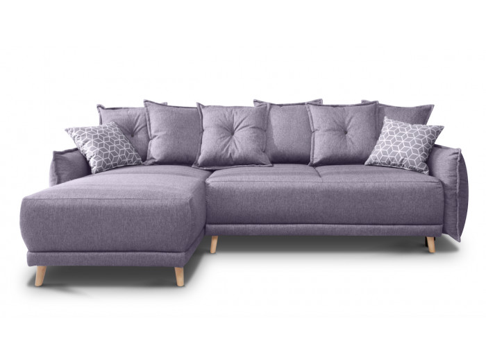 Corner sofa reversible convertible with storage LENA