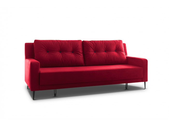 Sofa right convertible velvet BERGEN