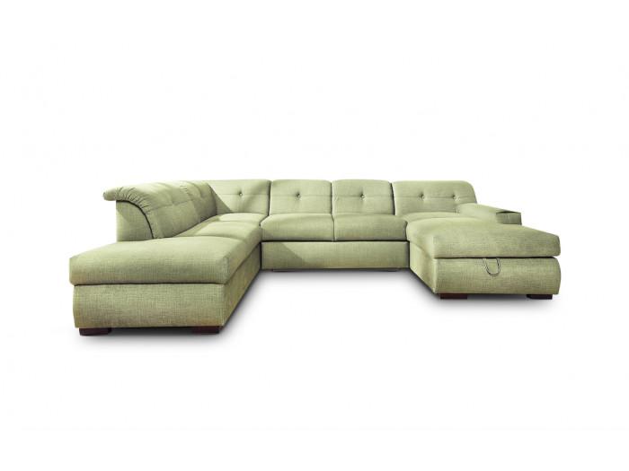 Panoramic sofa convertible with storage XXXL GENEVA