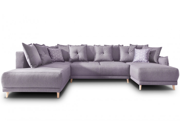 Sofa panoramic LENA convertible with storage