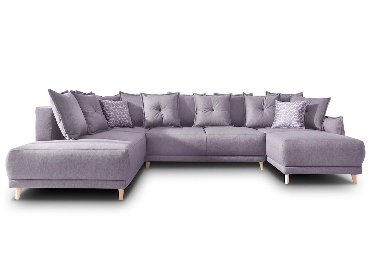 canap panoramique convertible coffre xxl lena bobochic. Black Bedroom Furniture Sets. Home Design Ideas