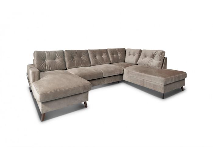 Sofa panoramic convertible trunk velvet XXL SCANDI