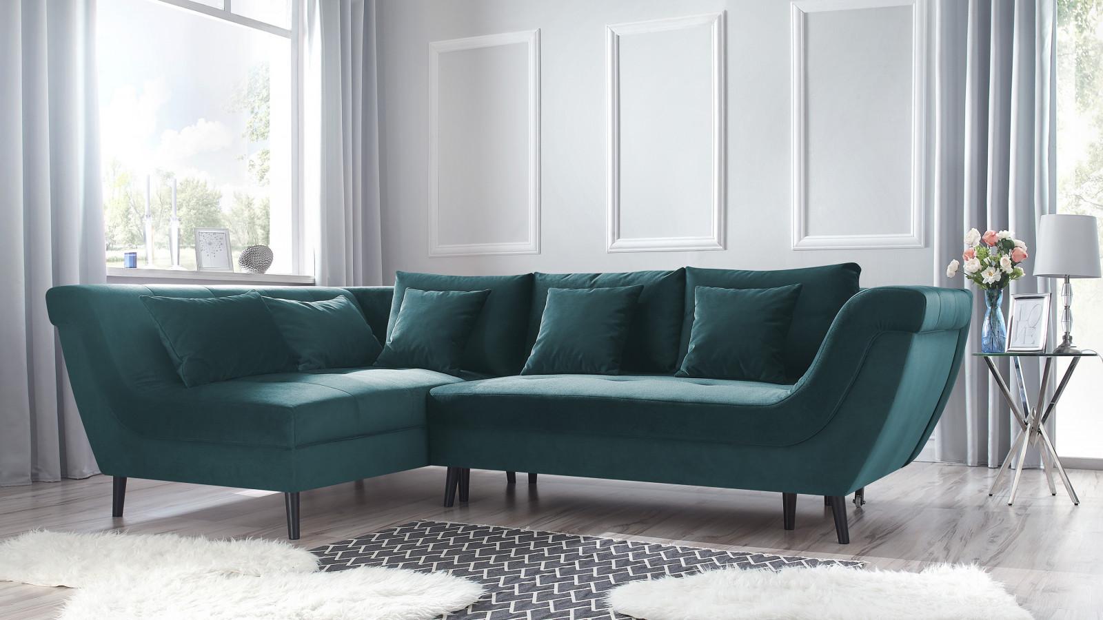 Corner sofa convertible REAL