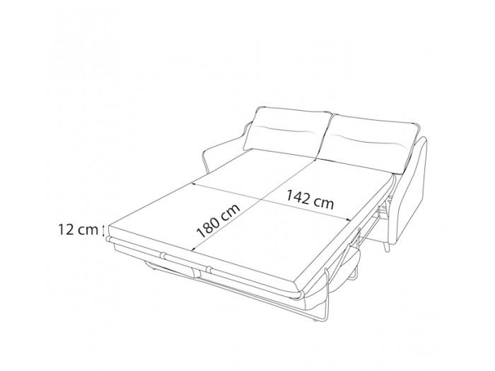Canapé droit convertible LOFT