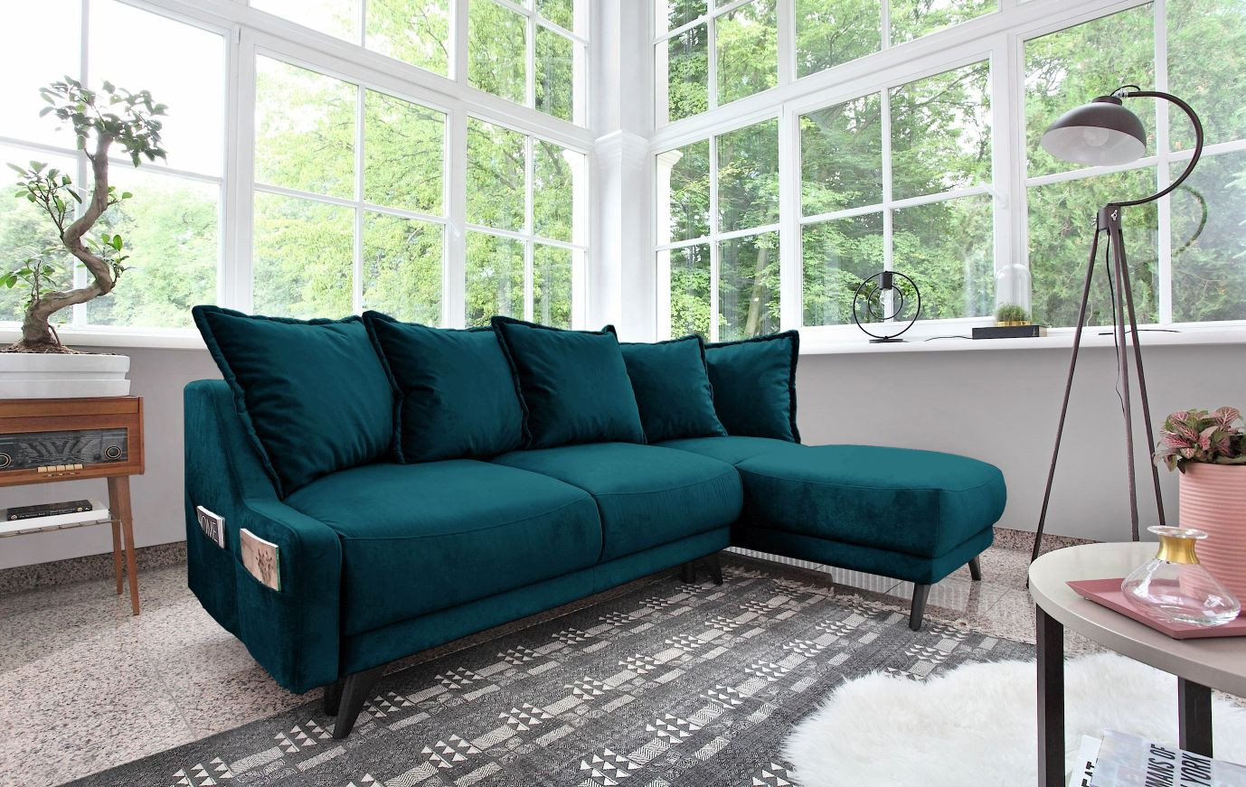 mieux aimé 37c71 a8286 Corner sofa convertible trunk NEW ENGLAND | BOBOCHIC ®
