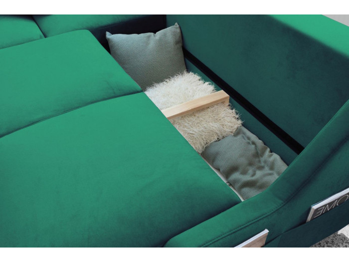 Sofá de la esquina convertible tronco de NUEVA INGLATERRA