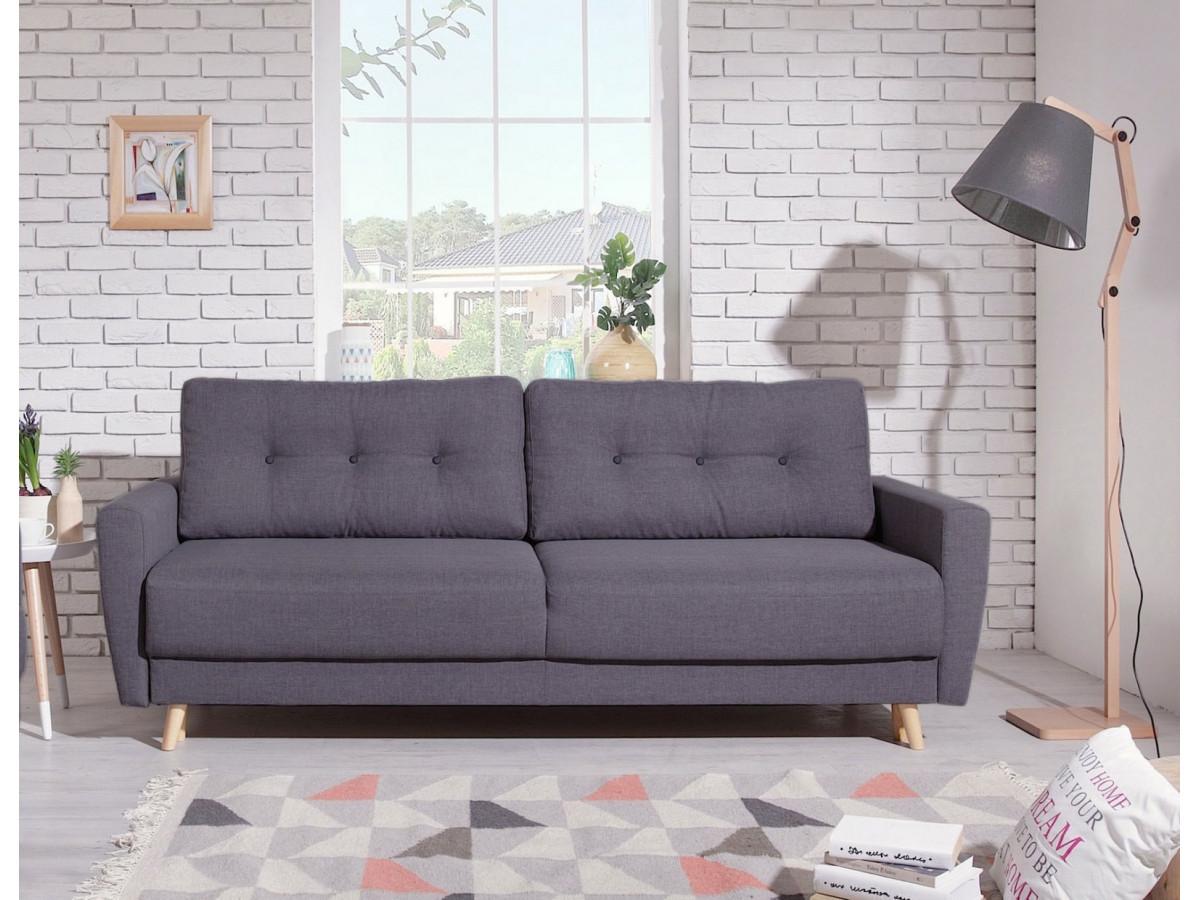 canap droit convertible coffre scandi bobochic. Black Bedroom Furniture Sets. Home Design Ideas