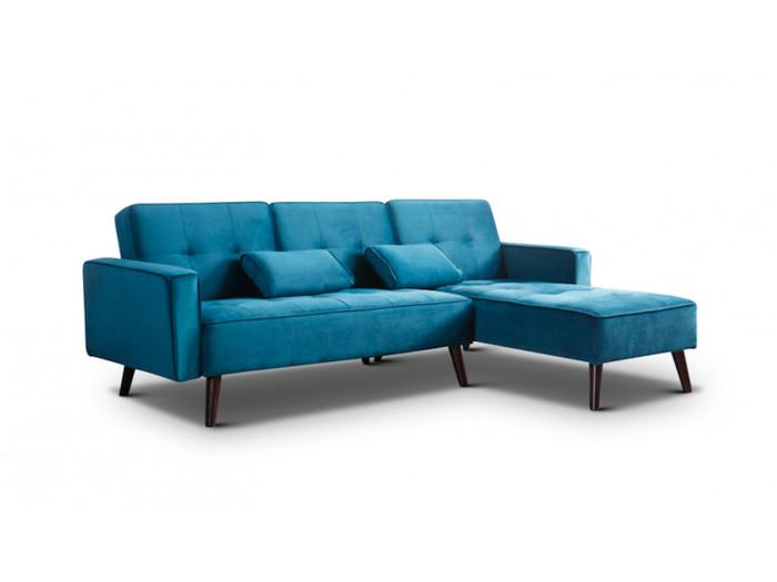 Corner sofa reversible convertible velvet LISEA