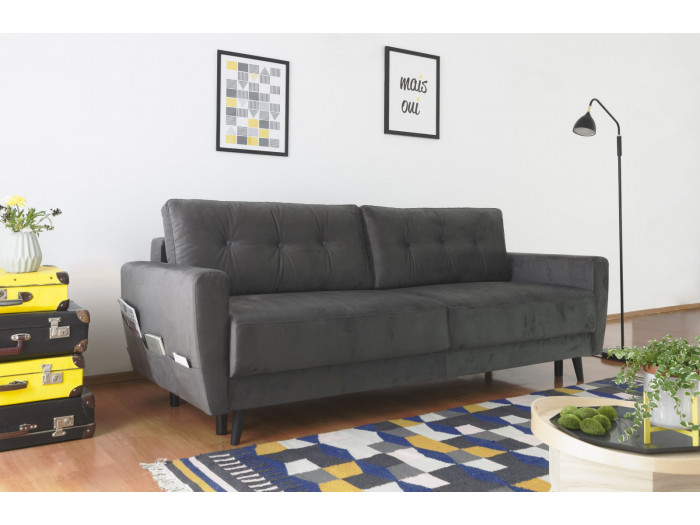 Sofa prawy mini cabrio aksamit SCANDI