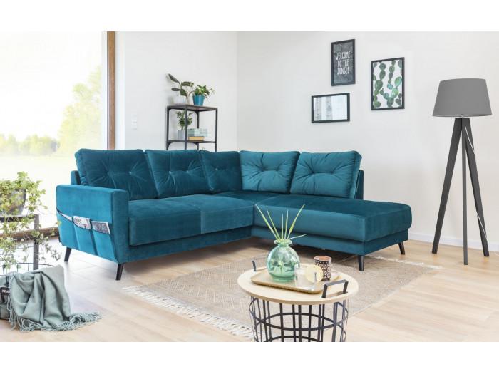 Canapé d'angle fixe Scandi L VELOURS