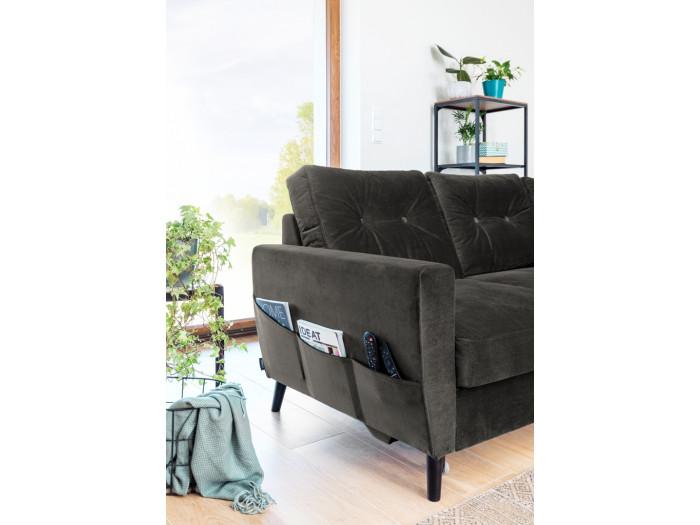 Corner sofa convertible Scandi L