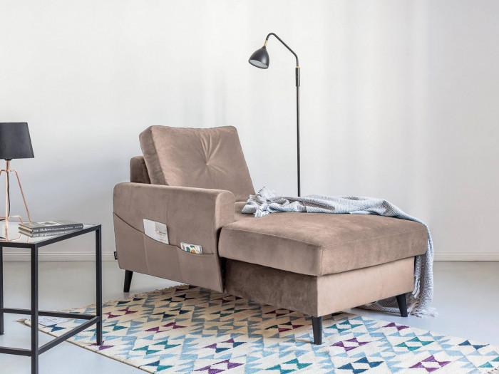 Chaise lounge con caja de seguridad de la SCANDI