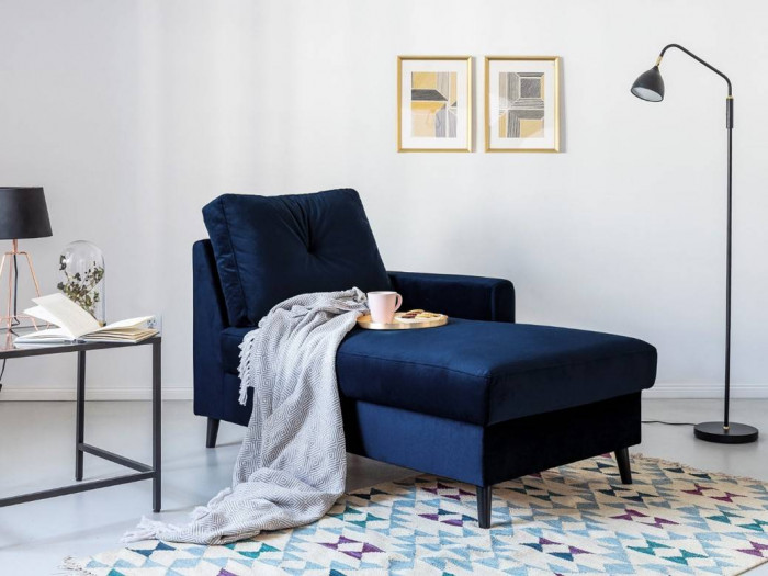 Chaise lounge with safety deposit SCANDI
