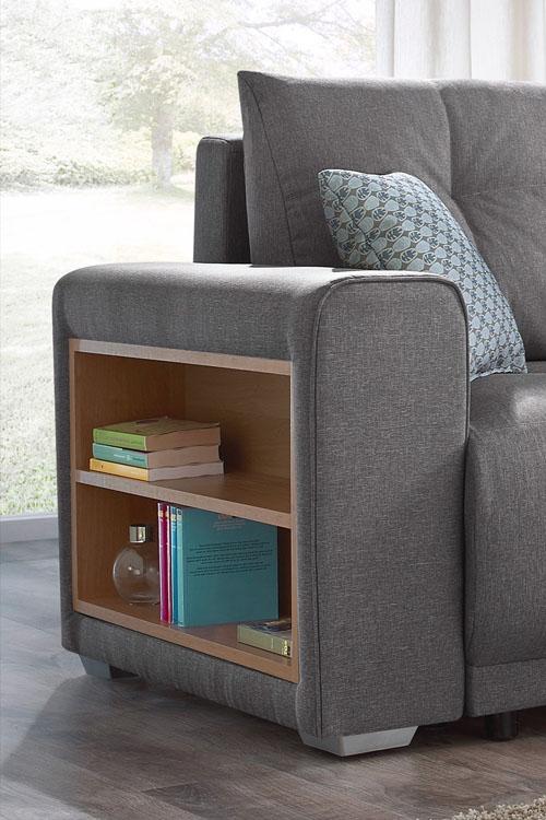 canape d 39 angle convertible lisbona avec tag re droit 2. Black Bedroom Furniture Sets. Home Design Ideas