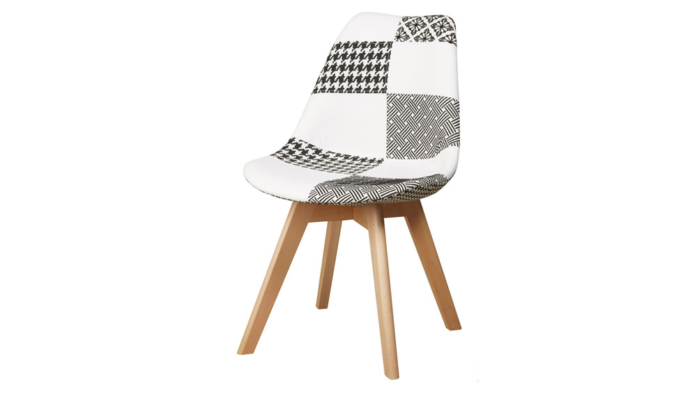 Chaise patchwork style scandinave POULE