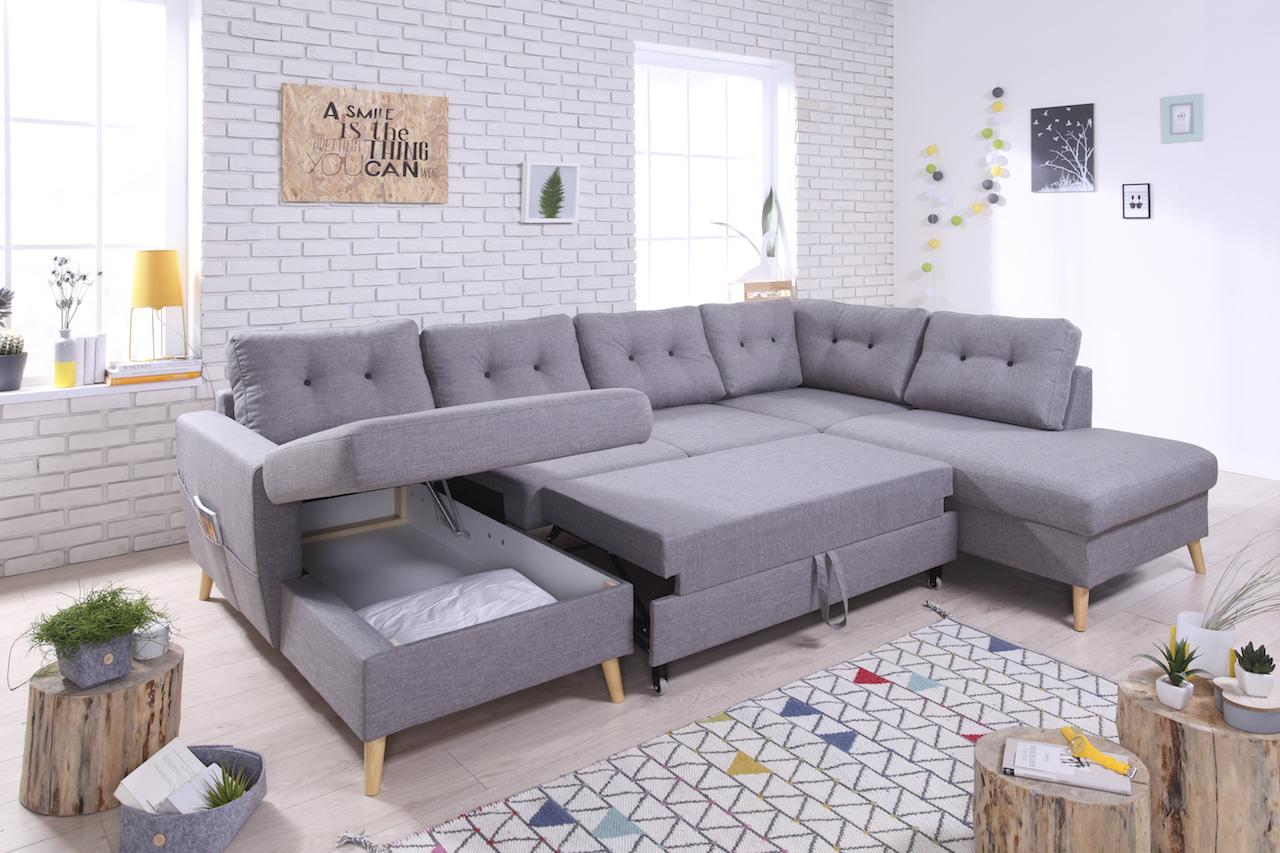 canap panoramique coffre convertible xxl scandi bobochic. Black Bedroom Furniture Sets. Home Design Ideas